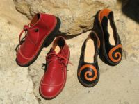 chaussures cuir rouge